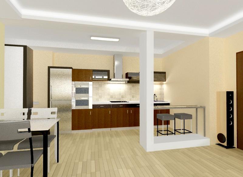 Progettare una cucina comune e soggiorno nell\'appartamento ...